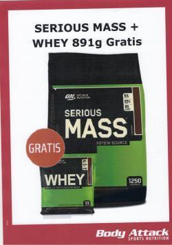 Serious Mass + ON Whey Protein gratis