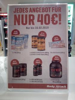 Jedes Angebot 40€