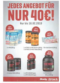 Sagenhafte Kombi-Angebote für €40,00 (bis zum 16.02.2019)
