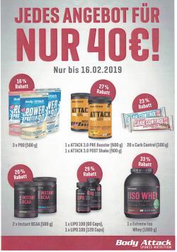 JEDES ANGEBOT FÜR 40 €