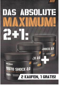 Body Attack - Testo Shock 2.0 - Aktion 2 + 1
