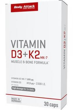 Vitamin D3 + K2 30 Caps