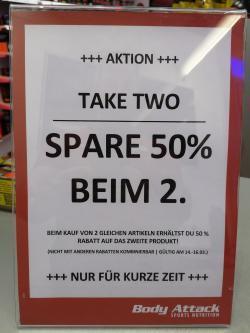 Spar 50% auf das zweite Produkt!