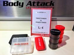 Tablettenbox & Power Tower für je 1€