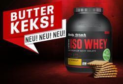 NEU!!! Unser beliebtes ISO Whey jetzt als Butterkeks Geschmack!!