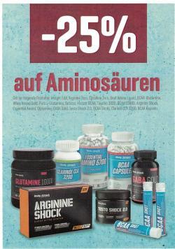 -25 % auf Aminosäuren