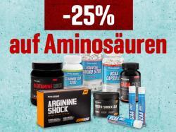 25% Rabatt auf Aminosäuren