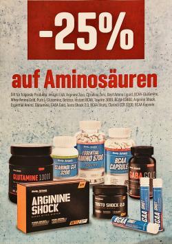 +++ 25% RABATT AUF AMINOSÄUREN +++