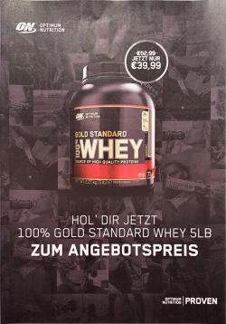 +++ ON GOLD STANDARD WHEY NUR 39,99€! +++