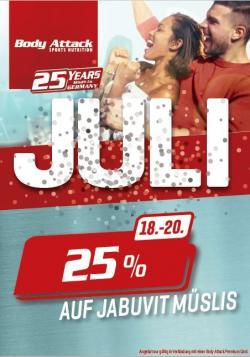 Jubiläumswoche 3 - 25% auf Jabuvit Müsli