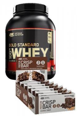 100% Whey Protein 2270g + 10 Optimum Crisp Bar 65g