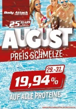 +++19,94% AUF ALLE PROTEINE DER EIGENMARKE VOM 29.-31.8.!!!+++
