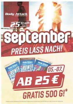 Body Attack - Geburtstags-Aktionen im September