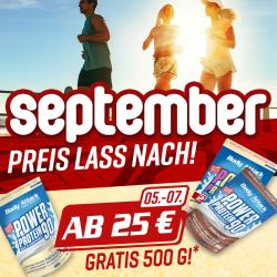 September : Preis lass nach!