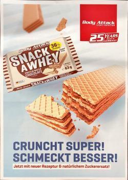 Snack a Whey: neue Rezeptur - noch besserer Geschmack!