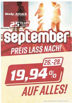 Body Attack - Geburtstags-Aktionen im September
