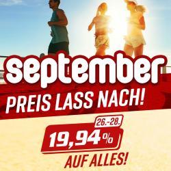 PREISNACHLASS IM SEPTEMBER - 19,94% AUF ALLES!!!