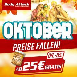 Body Attack - Geburtstags-Aktionen im Oktober