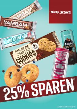 25% RABATT AUF ALLE SNACKS & GETRÄNKE!!!