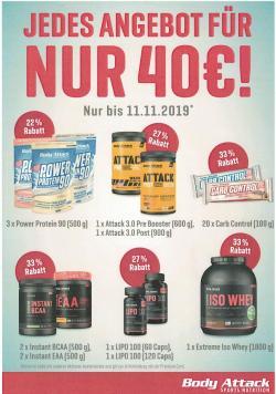 Body Attack - Jedes Paket für € 40,-