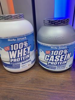 +++ GESCHMACKSNEUTRAL: 100% Whey und 100% Casein +++