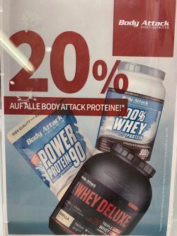 20% auf deine Lieblings-Proteine!