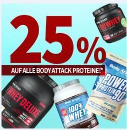25% AUF ALLE BODY ATTACK PROTEINE: