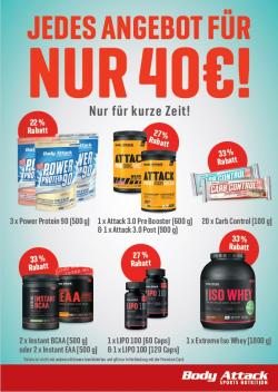 Krasse 40€ Aktion zum Re-Opening!