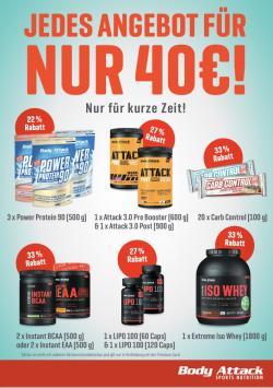 NUR NOCH FÜR KURZE ZEIT: JEDES ANGEBOT NUR 40€