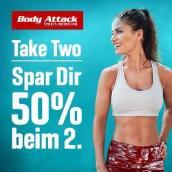 Take two - Spare 50% beim zweiten Produkt