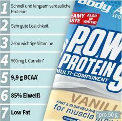 Ab 50.-Euro Einkaufswert 1 Beutel Power Protein 500g kostenlos!