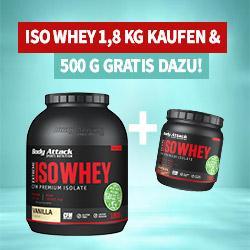 +++ 500g ISO Whey Geschenkt +++