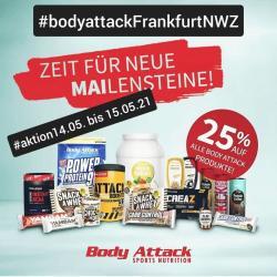 25 % auf alle Body Attack Produkte!