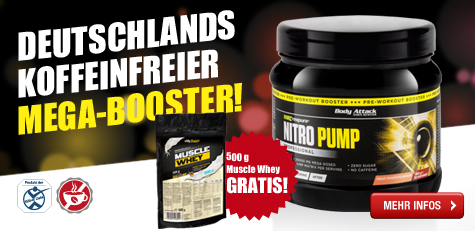 BA Start Nitro Pump + Muscle Whey DEZ14